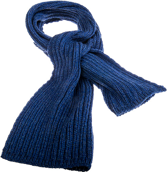 Ribbed Scarf Navy