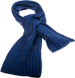 Load image into Gallery viewer, Ribbed Scarf Navy