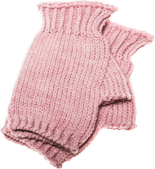 Fingerless mittens rose