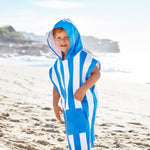 Load image into Gallery viewer, Kids Poncho - Bondi Blue