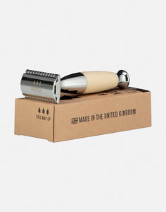 Double edged safety razor ivory