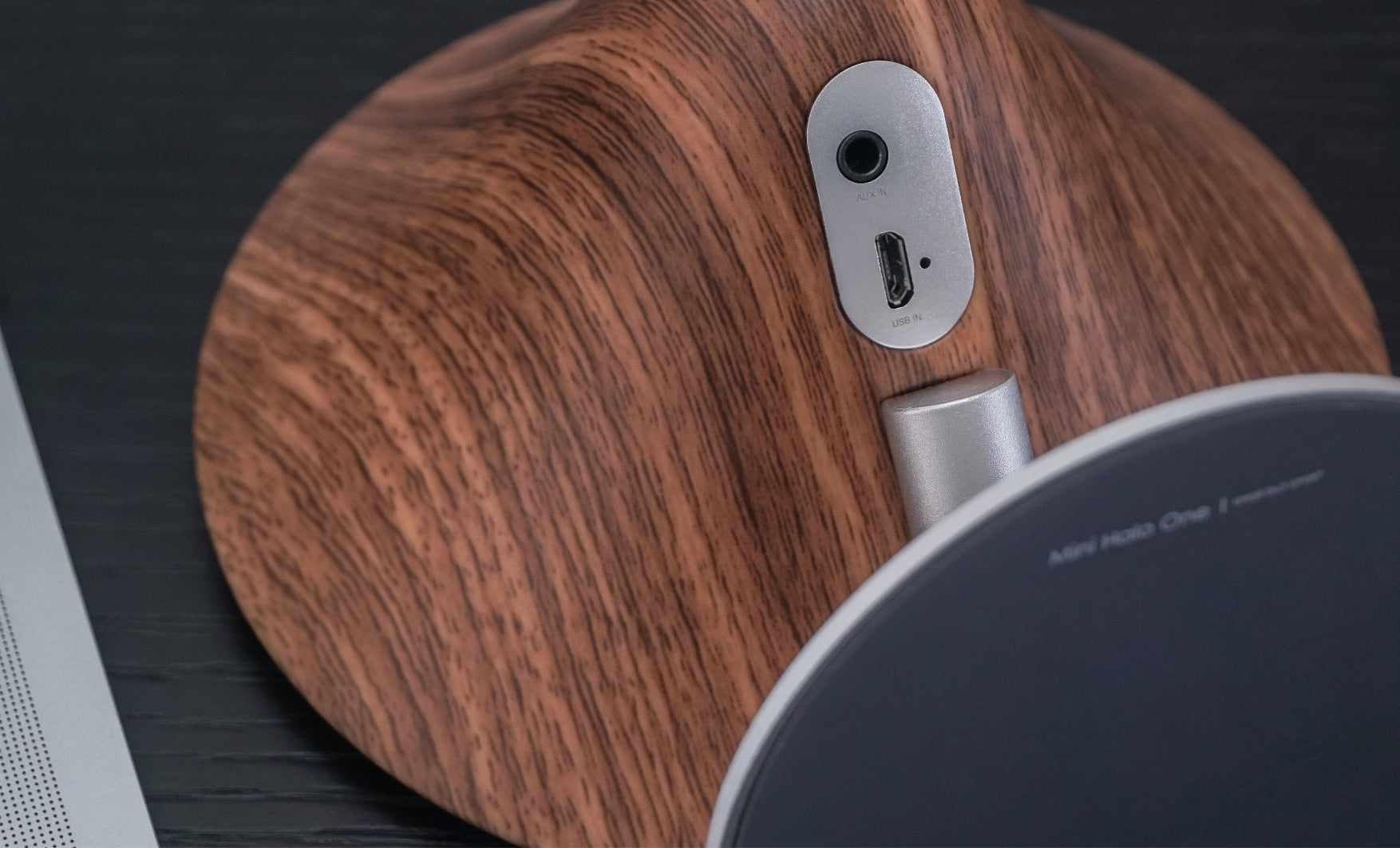Mini Halo Bluetooth Speaker - Walnut