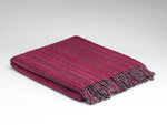 Load image into Gallery viewer, Heritage Fuschia Tweed throw