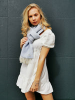 Load image into Gallery viewer, Cashmere Pastel Blue Wrap