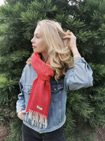 Load image into Gallery viewer, Lambwool Scarf - Bright Red