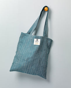 Irish Linen Shopper - Kingfisher