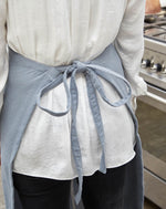 Load image into Gallery viewer, Apron Blue/Linen