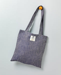 Irish Linen Shopper - Navy