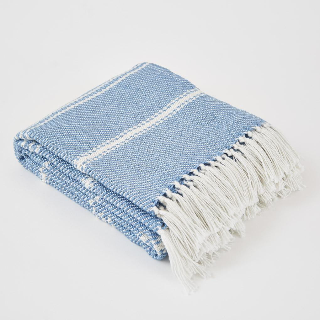 Oxford Stripe Capri Throw