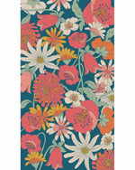 Load image into Gallery viewer, Retro Meadow Print Scarf - Teal
