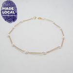 Load image into Gallery viewer, Pearl Bar Necklace White