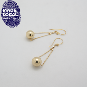 Gold Ball Floating Earrings