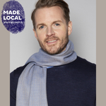 Load image into Gallery viewer, Blue Fine Merino Scarf