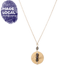 Load image into Gallery viewer, Beaded Line Necklace Brown