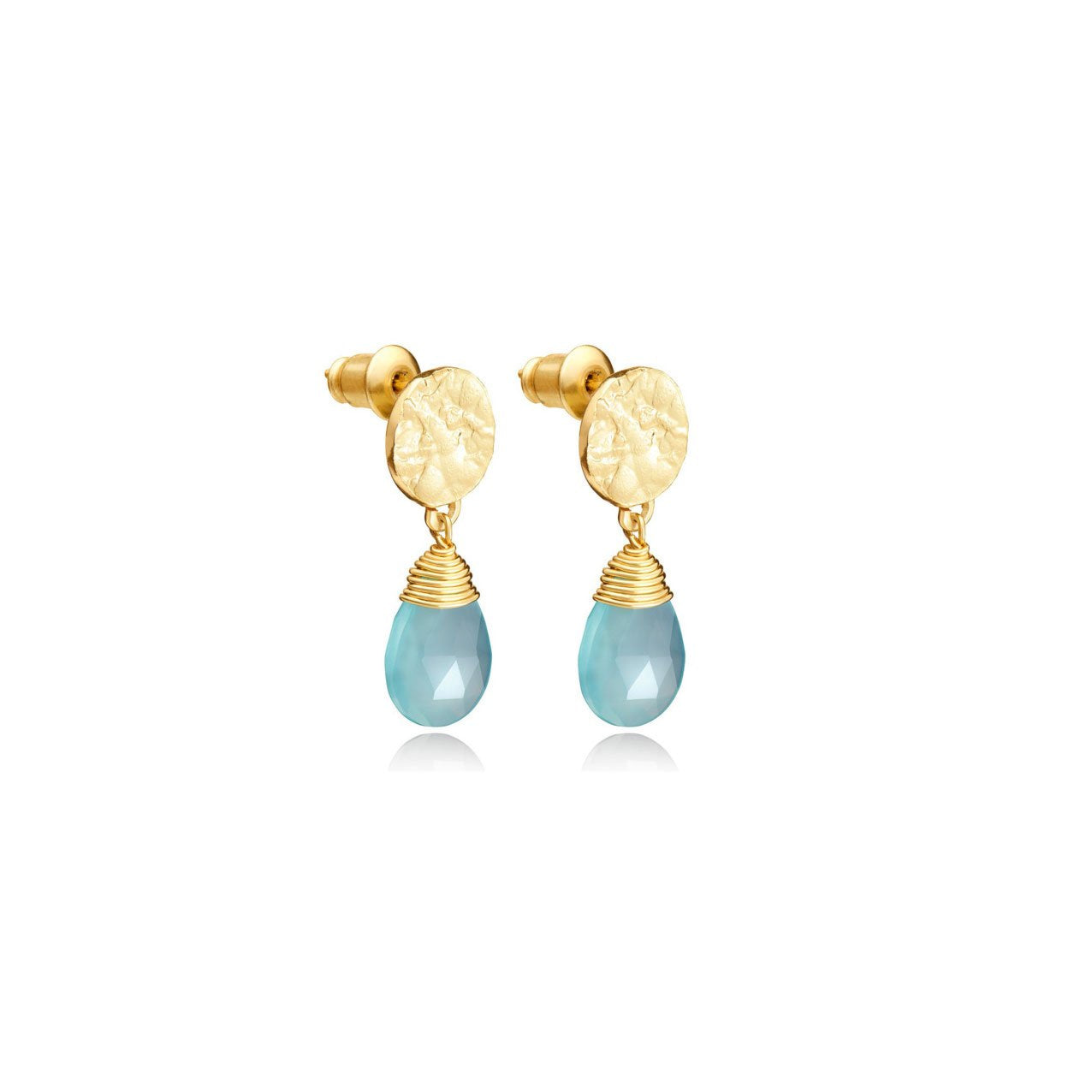 Athena Drop Earrings - Aqua