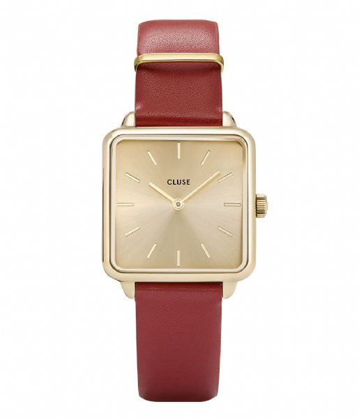 Red/Gold Square Watch