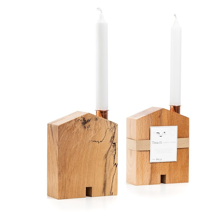 Teach Candle Holder - Medium