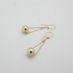 Load image into Gallery viewer, Gold Ball Floating Earrings