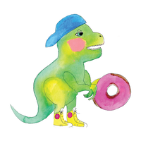 Dinosaurs Love Donuts