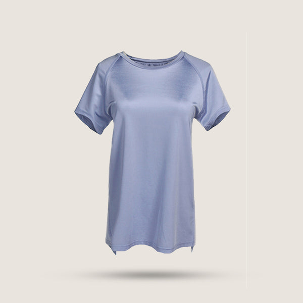 Back Slit T-shirt - Lilac