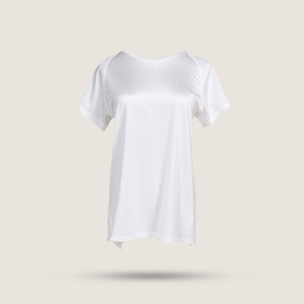 Back Slit T-shirt - White