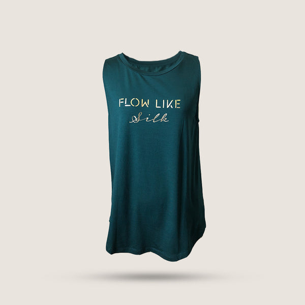 Flow like silk T-shirt - Green