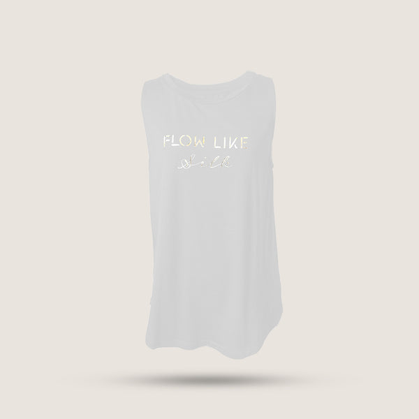 Flow like silk T-shirt - White