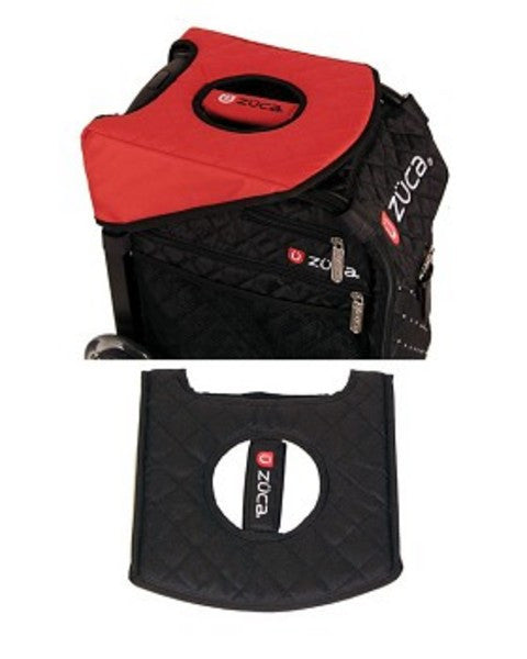 ZUCA - SEAT CUSHION , BLACK/RED