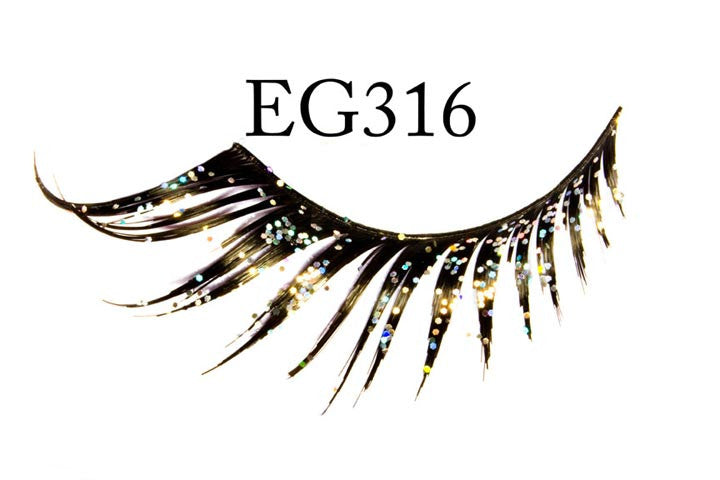 #EG316 - GLITTER FEATHERED EYELASH