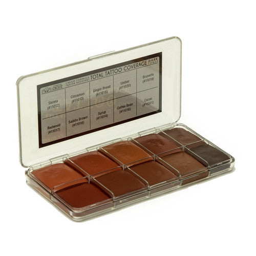 Jordane Cosmetics - TOTAL TATTOO COVERAGE PALETTE DARK FLESH