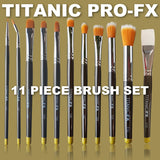 TITANIC PRO-FX 11 PIECE BRUSH SET