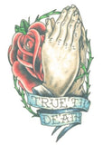 TattooedNow! Praying Hands with Rose / True Till Death