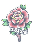 TattooedNow! Red Love Rose