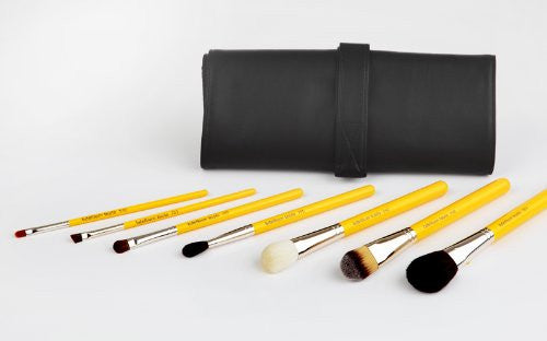 Bdellium Tools Professional Antibacterial Makeup Studio Line Basic 7pc. Brush Set With Roll-Up Pouch