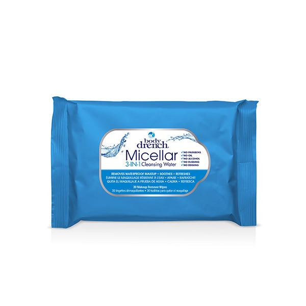 Body Drench 3-IN-1 Micellar Cleansing Water Wipes