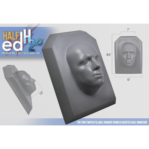 The Monster Makers - HALF ED H2.0 DELUXE MALE HALF HEAD ARMATURE (LIFE-SIZE)