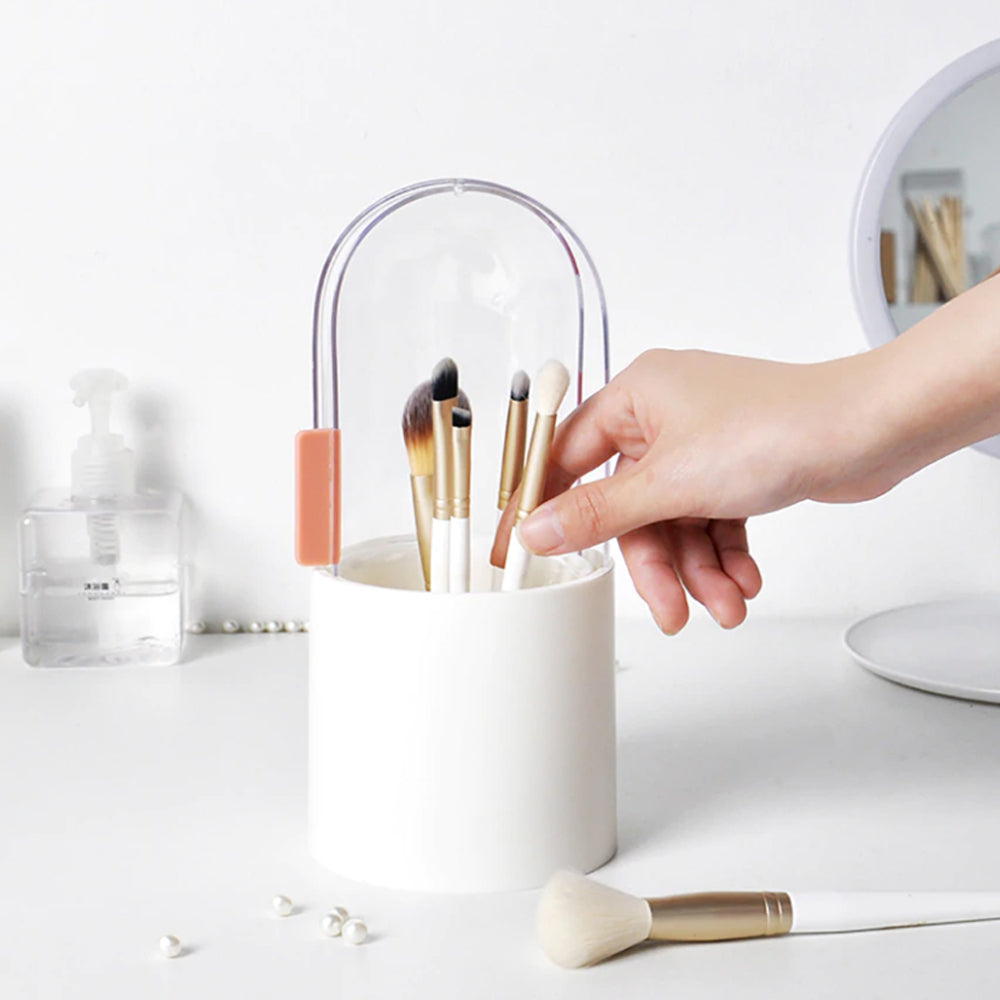 Makeup Brush Holder with pearls