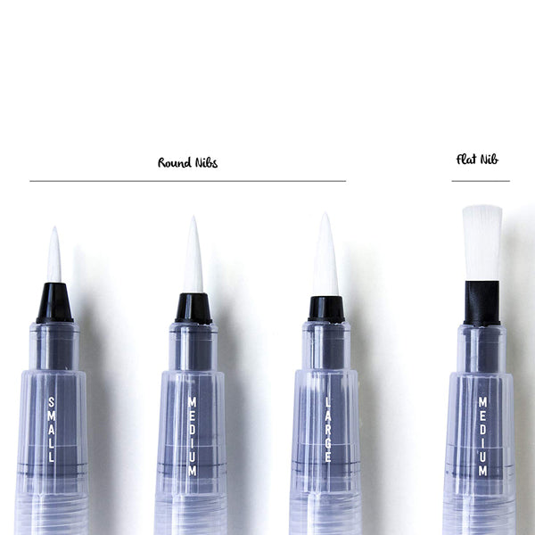 Aqua Brush – Refillable Brush Pens  (Set of 4)