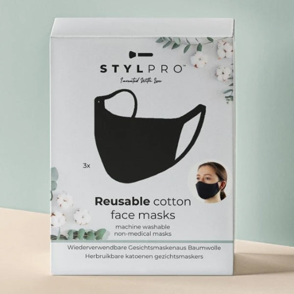 STYLPRO REUSABLE COTTON FACE MASKS