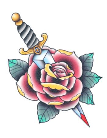 TattooedNow! Rose And Dagger