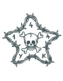 TattooedNow! Barbwire star with Skull