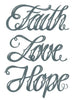 TattooedNow! Faith Love Hope Script Tattoo