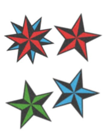 TattooedNow!  Nautical Stars Set