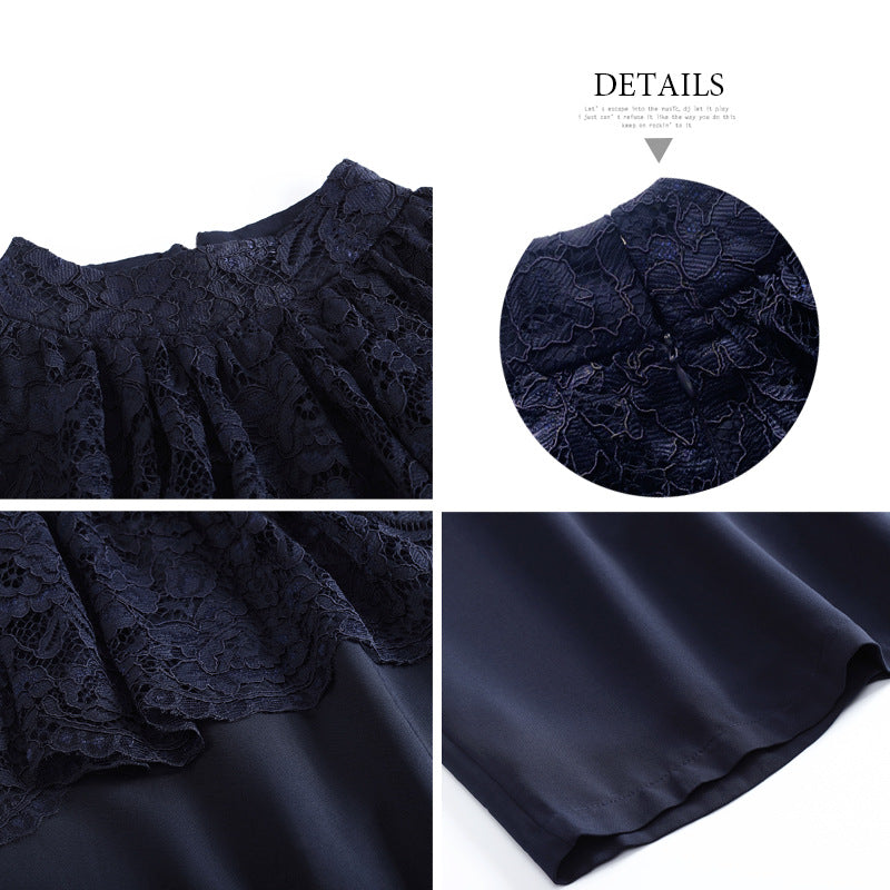 2020 Women's Fake Two-Piece Skirt Cape Lace Shawn-style Shield Edith Skirt