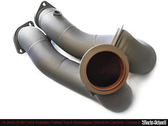 "Macht Schnell Catless Track Downpipes - N54 (Ceramic Thermal Coat, 76.2mm (3.00"") )"