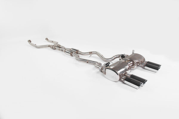 EVOLVE E9X M3 E-Tronic Rear Exhaust and Evolve High flow X Pipe with High Flow CATS