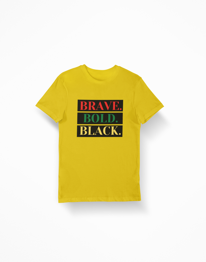 Yellow - Brave.Bold.Black. Black Backed
