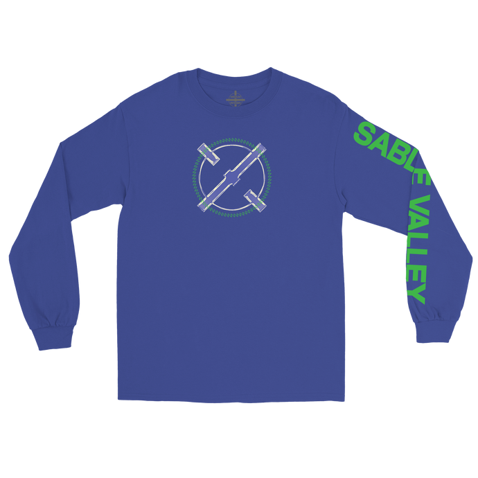 Sable Valley Long Sleeve Logo Tee - Blue