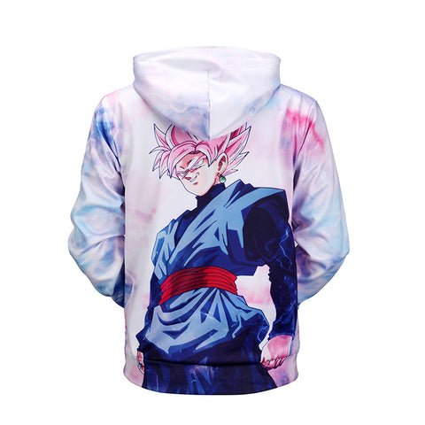 Anime Hoodies Dragon Ball Z Pocket Hooded Sweatshirts Goku 3D Hoodies Pullovers Men Long Sleeve Outerwear New Hoodie BL-138 - RELEVAZA