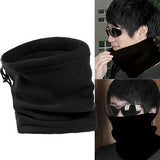 Unisex Polar Fleece Neck Warmer Thermal Snood Scarf Hat Ski Snowboarding Wear - RELEVAZA